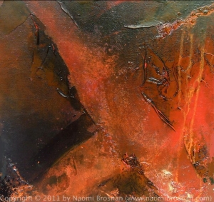 Innocent Wisdom - 41cm x 41cm - Oil and Pigment On Canvas 2005