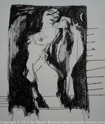 Pen Drawing on paper 2011 - 18cm x 20cm - €150 Unframed